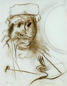 Zelfportret naar Rembrandt